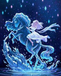 Disney Frozen 2 Die Eiskönigin Elsa Anna Arendelle Nokk into the unknown Elsanna Disney Princess Drawings, Disney Princess Art, Disney Fan Art, Disney Drawings, Drawing Disney, Disney Kunst, Arte Disney, Punk Disney, Frozen Art