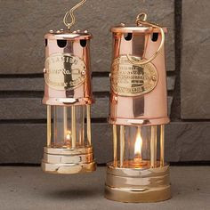 Brass & Copper Table-Top Oil Lamps -  Classic Style Made All Its Own - Beautiful Even Unlit