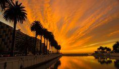 Vía @Javo Ayala  // Sunset in #VinadelMar #NoFilter