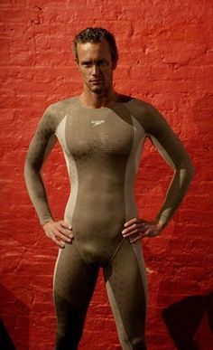 Men in swimsuits: British Olympic Swimmer Mark Foster models the new Speedo swimsuit
