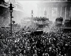 A Glimpse of Armistice Day in London, 1918