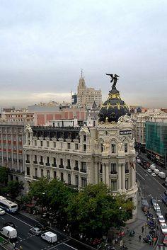 Mirando Madrid desde el Circulo.