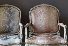 Colefax and Fowler. The very elegant Seymour damask from Colefax and Fowler with a wonderful ombre giving it an only slightly understated air of grandeur.   www.colefax.com