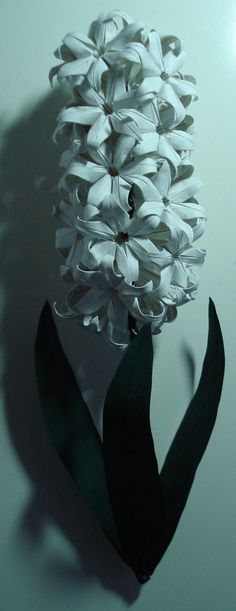 Origami Hyacinths by ~HolographicImaging on deviantART {need instructions: none given, tho artist mentioned maybe posting a set in the future}