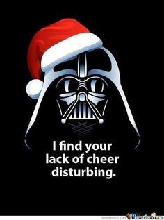 Some holiday cheer from Darth Vader lol Darth Vader Christmas, Star Wars Christmas, Christmas Humor, Merry Christmas, Christmas Images, Christmas Stuff, Dark Christmas, Christmas Post, Christmas Quotes