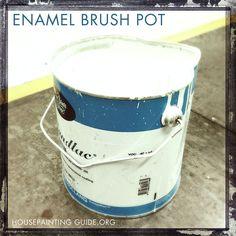 enamel-brush--pot made from Hollandlac BEST HIGH GLOSS PAINT MADE TO MAN.//house painters website SOURCE.Coirinne