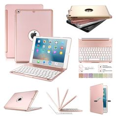 7 Colors Backlit Bluetooth Keyboard Slim Leather Case Cover For iPad Pro Generation. Pls note:this keyboard is a seperate backlit keyboard,so it can be used for all kinds of tablets! Iphone 5se, Apple Watch Iphone, Keyboard Cover, Ipad Pro 12 9, Bluetooth Keyboard, New Ipad, Apple Ipad, Ipad Case, Protective Cases
