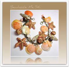 Florida Shell Starfish Organic Bracelet, polymer clay. via Etsy.