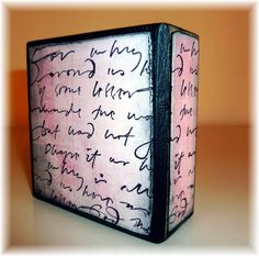 """Back of """"Be"""" Art Block - simple and small (3""""x3"""")"""