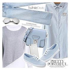 """Blue sky"" by vanjazivadinovic ❤ liked on Polyvore featuring Alexander Wang, Karl Lagerfeld, Native Union, Keds, polyvoreeditorial and twinkledeals"