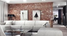 how to style with a lot of red brick interior - Google Search