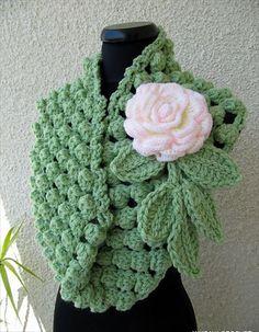 Chunky Infinity Scarf Crochet Popcorn Stitch- 32 Super Easy Crochet Infinity Scarf ideas | DIY to Make