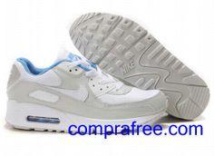 Comprar baratos mujer Nike Air Max 90 Zapatillas (color:blanco,gris,azul) en linea en Espana.