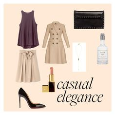 """""""Casual & classic"""" by makeupbymichelleh on Polyvore featuring RVCA, Burberry, Valentino, Christian Louboutin, BaubleBar, Fresh and Tom Ford"""