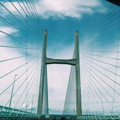 A #verticalview driving across the beautiful Severn Bridge in Wales @ecophonuk @blueprint.mag #wales #severn #bridge #beautiful #lines #perspective #love #lines @chippychop88