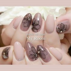 New nails design gold unique Ideas Rose Nails, Flower Nails, Gel Nails, Nail Art Designs, Acrylic Nail Designs, Nails Design, Gold Manicure, Manicure And Pedicure, Stylish Nails