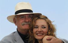 Никита Михалков  с дочерью Надей.