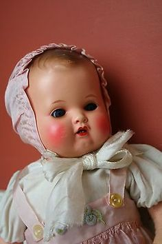 Antique-Vintage-Celluliod-Plastic-German-Turtle-Mark-Baby-Doll-Glass-Eyes