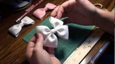 How To Make A Flat Boutique Hair Bow (Pinwheel Hair Bow) Tutorial, via YouTube.