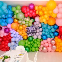 Inflated Balloons Delivered To Your Door For Any Special Occasion. Shop Our Helium Balloons Today - Delivered To All UK Mainland Addresses. Balloon Installation, Balloon Backdrop, Balloon Wall, Balloon Garland, Diy Birthday Decorations, Balloon Decorations Party, Balloon Ideas, Rainbow Balloons, Colourful Balloons