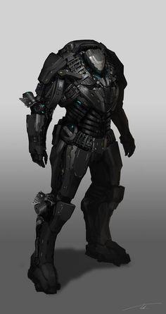 Bask in his Lorica Armis (Mech Suit) Robot Concept Art, Armor Concept, Weapon Concept Art, Science Fiction, Space Opera, Arte Robot, Arte Cyberpunk, Futuristic Armour, Sci Fi Armor