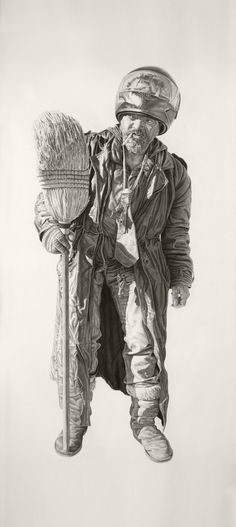 no regrets in life charcoal and graphite drawings by artist joel daniel phillips