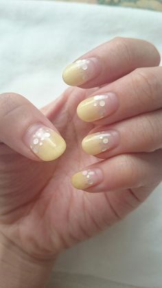 Yellow gradation nails