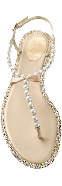 RENE CAOVILLA Pearl Embellished Sandal