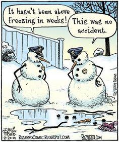 Bizarro snowman cartoons are the best! Snowman Jokes, Snowman Cartoon, Bizarro Comic, Christmas Jokes, Christmas Cartoons, Christmas Doodles, Funny Cartoons, Funny Jokes, Hilarious