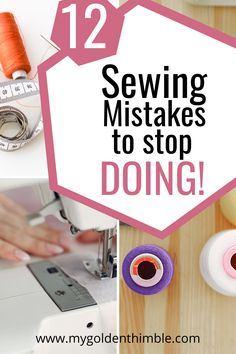 You might be making one or more of these Sewing Mistakes. Learn the most common Sewing Mistakes seamstresses make and how to fix them quickly. Diy Sewing Projects, Sewing Tools, Sewing Projects For Beginners, Sewing Hacks, Sewing Tutorials, Sewing Crafts, Sewing Patterns, Sewing Machine Projects, Skirt Patterns