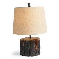 Moran tree stump table lamp