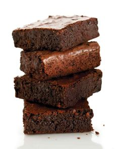 A double dose of chocolate -- bittersweet and cocoa powder -- makes these brownies the most satisfying around. The thin crust gives way to a rich, fudgy interior.