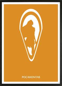 Pocahontas [Mike Gabriel & Eric Goldberg, «Disney Minimalist Author: David D Disney Movie Posters, Disney Films, Film Posters, Disney Minimalist, Minimalist Poster, Disney Fantasy, Disney Diy, Disney Love, Walt Disney