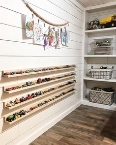 toy rooms Playrooms, just based on their function, tend to lean toward the messy and unorganized. Some children are too young to clean up after themselves, and many Playroom Design, Kids Room Design, Playroom Decor, Boys Playroom Ideas, Kids Basement, Ikea Kids Room, Children Playroom, Modern Playroom, Play Room For Kids