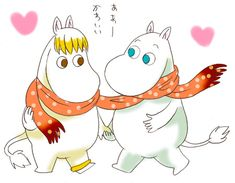 Moomin and Floren 2 by piyo119.deviantart.com