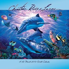 Christian Riese Lassen Wall Calendar: Immerse yourself in a world of watery wonder as Christian Riese Lassen, the premiere marine artist of our time, inspires you to protect Mother Nature's treasures with his glorious paintings of sparkling seas and the creatures that inhabit them.  $14.99  http://calendars.com/Sea-Life/Christian-Riese-Lassen-2013-Wall-Calendar/prod201300003414/?categoryId=cat00345=cat00345#