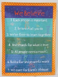 The 7 Unitarian Universalist Principles, children's version