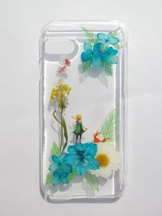 Pressed flowers phone case, iphone 7, The Little Prince via Annysworkshop