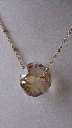 Sunset Swarovski necklace