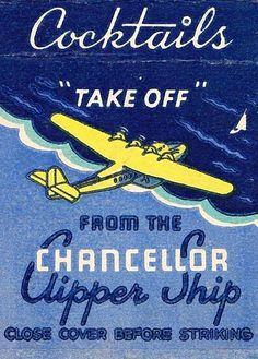 Chancellor Clipper Ship match book cover