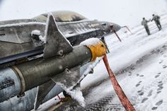 Snow Ghosts - HAF's F-16 BLK52+ on a snowy day!