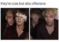 OKAY BUT JK IN THE FIRST PIC WTF YOUNG MAN OMG STAHP TAETAE IS MY BIAS!!!!