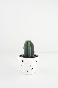 DIY Mini Patterned Plant Pots - Homey Oh My!
