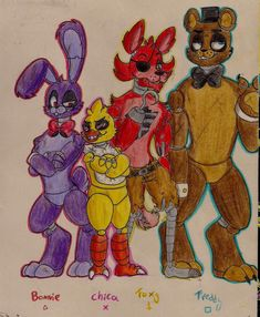 Five Nights At Freddy's my style...casi chibi :Y by LINDURITALINDA on DeviantArt