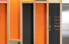 The wayfinding utilises Radim Pesko's Mercury, a versatile typeface that possesses the requisite combination of congeniality and utility.