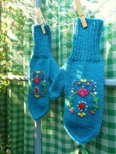 embroidered mittens, Bonthuishouden