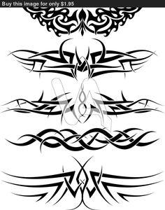 tribal dagger tattoo designs | Vector Graphics Patterns Tribal Tattoo For Design Use