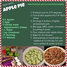 AdvoCare MRS Apple Pie (Meal Replacement Shake) For more information or if you have any questions?! email me at kaylynkane@yahoo.com or visit my website: http://www.advocare.com/150850874 #advocare #24daychallenge #mealreplacementshake