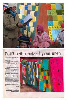 Lasten torkkupeittojen suunnittelu ja valmistus tilkkutyötekniikalla // Tilaaja/Client: Ekologinen päiväkoti Päivänsäde, Pälkäne // Suunnittelu/Design: ATE05 opiskelijat
