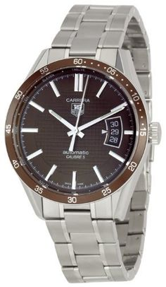 TAG Heuer Men's WV211NBA0787 Carrera Aluminum Bezel Watch TAG Heuer. $2089.99. Stainless steel case. Water-resistant to 165 feet (50 M). Automatic movement. Scratch resistant sapphire crystal. Case diameter: 39 mm. Save 20% Off!